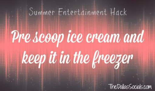 Cut back the time you're working during the party by pre scooping your ice cream and keep it in the freezer.