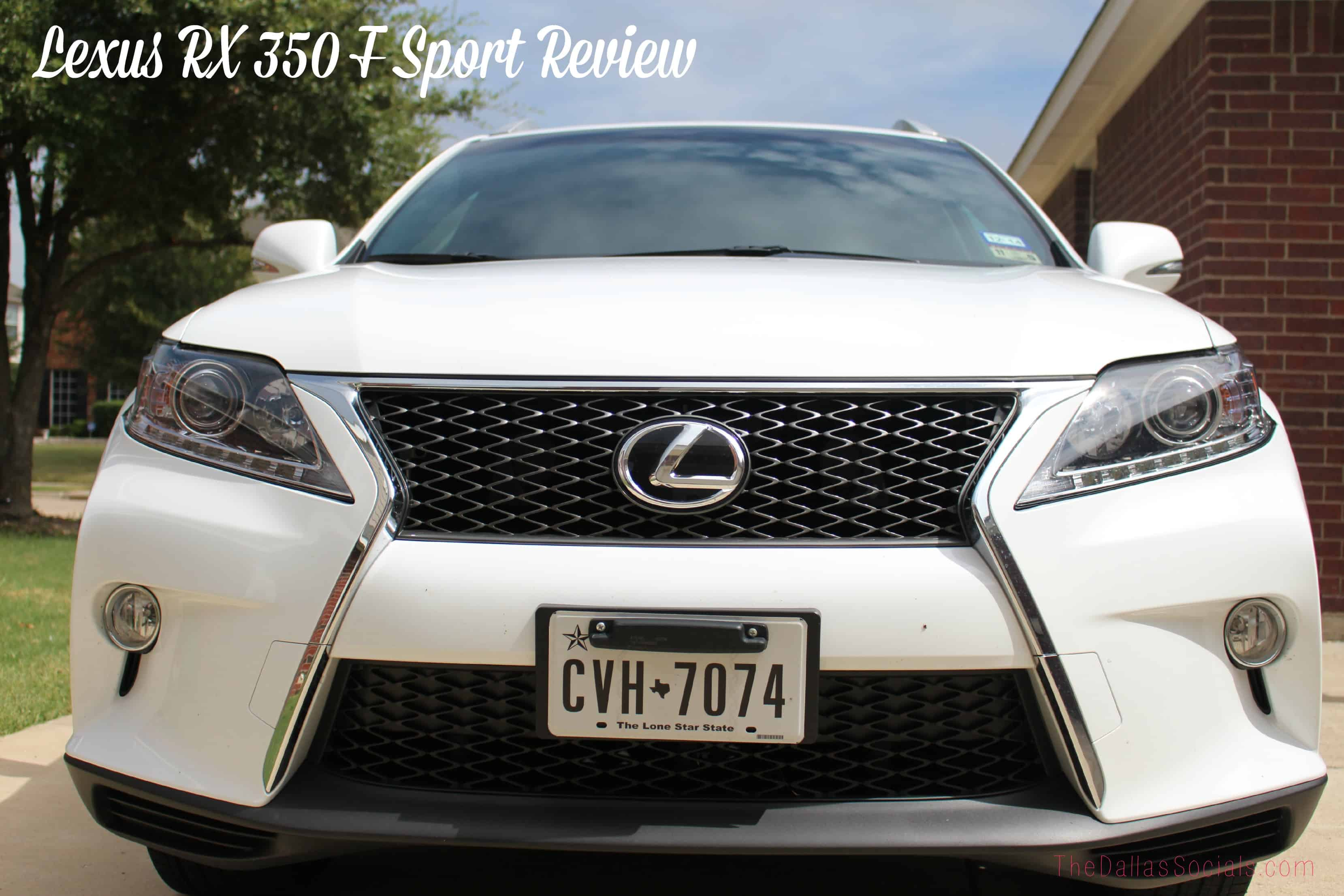 Lexus RX 350 F Sport Crossover Review