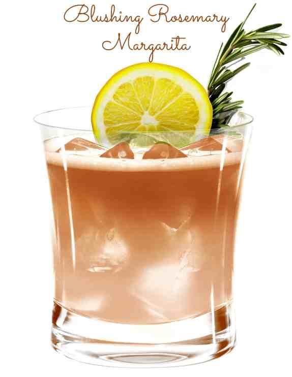 Blushing Rosemary Margarita