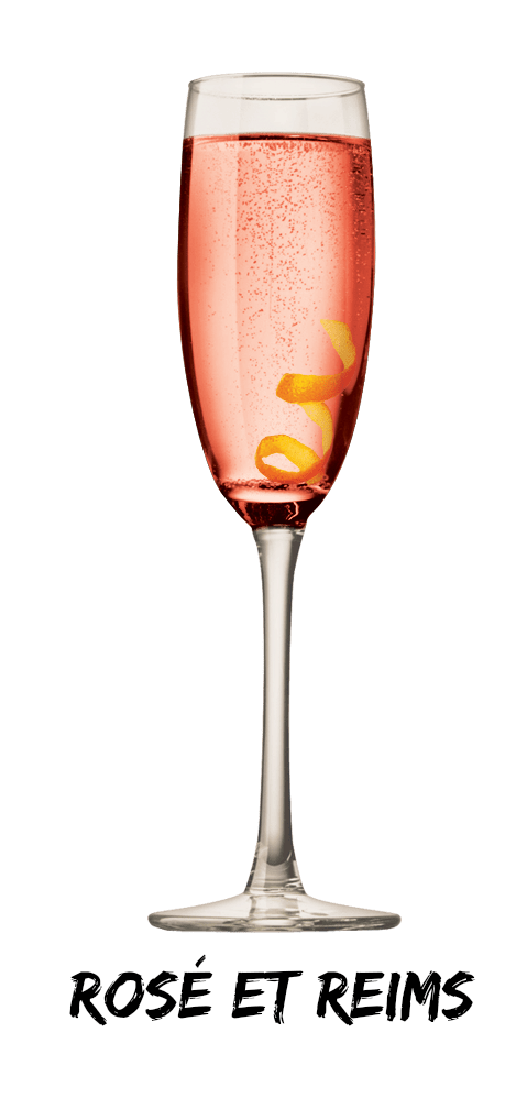 Rose et Reims Cocktail