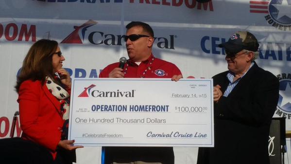 carnival check presentation