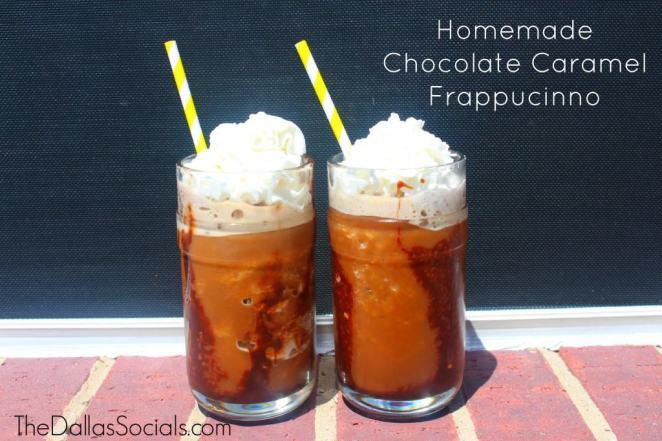 Homemade Chocolate Caramel Frappuccino