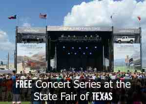 Free Concert Series at the State Fair of Texas