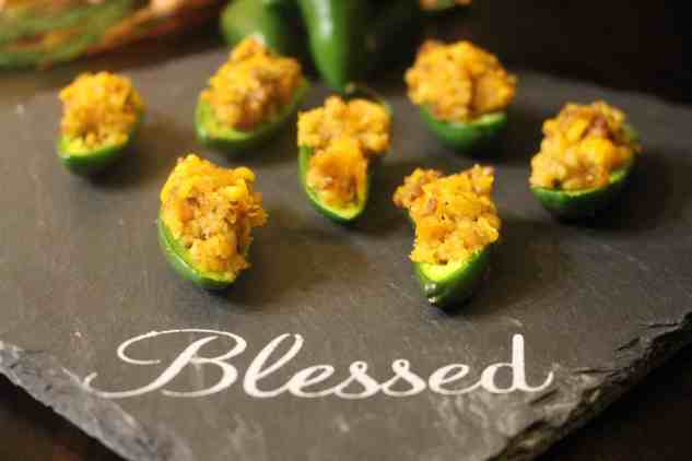 Jalapenos Stuffed with Dressing - Perfect for Thanksgiving