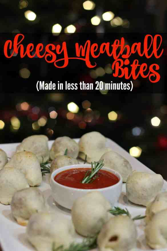 Cheese Meatball Bites - Made in less than 20 minutes