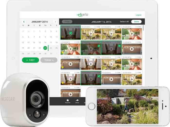 Connected Home Arlo Cameras