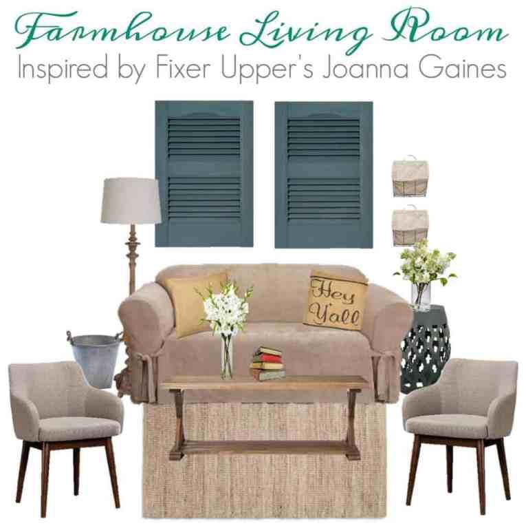 Fixer Upper Inspired Farmhouse Living Room