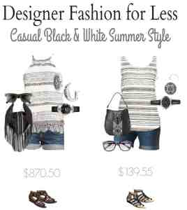 Designer Look for Less – Black and White Summer Style