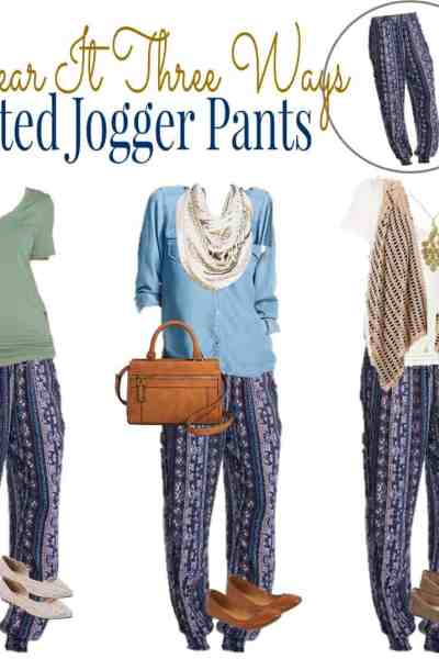 How to Wear Printed Jogger Pants Three Ways