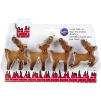 4 Piece Reindeer Cookie Cutter Set