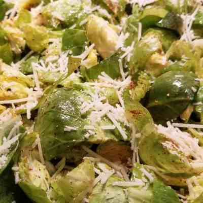 Tried and True Roasted Parmesan Brussel Sprouts