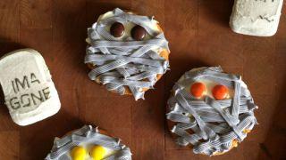 Pumpkin Cheesecake Mummy Cookies