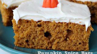 Pumpkin Spice Bars Recipe