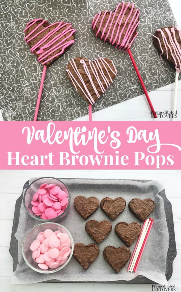 Valentine's Day Heart Brownie Pops Recipe