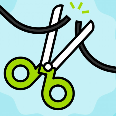 Cord Cutting Clipart