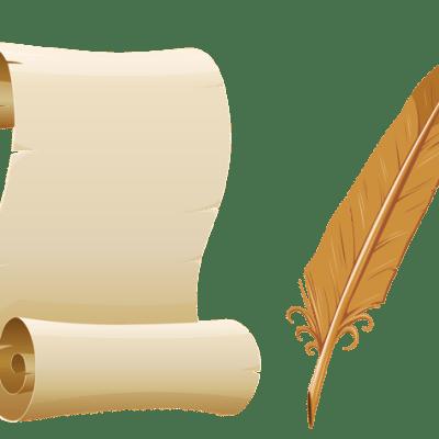 Scroll & Quill Clip art