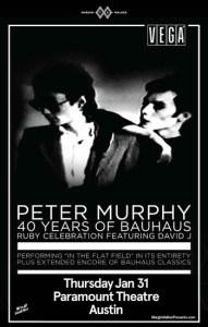 Peter Murphy 40 Years of Bauhaus