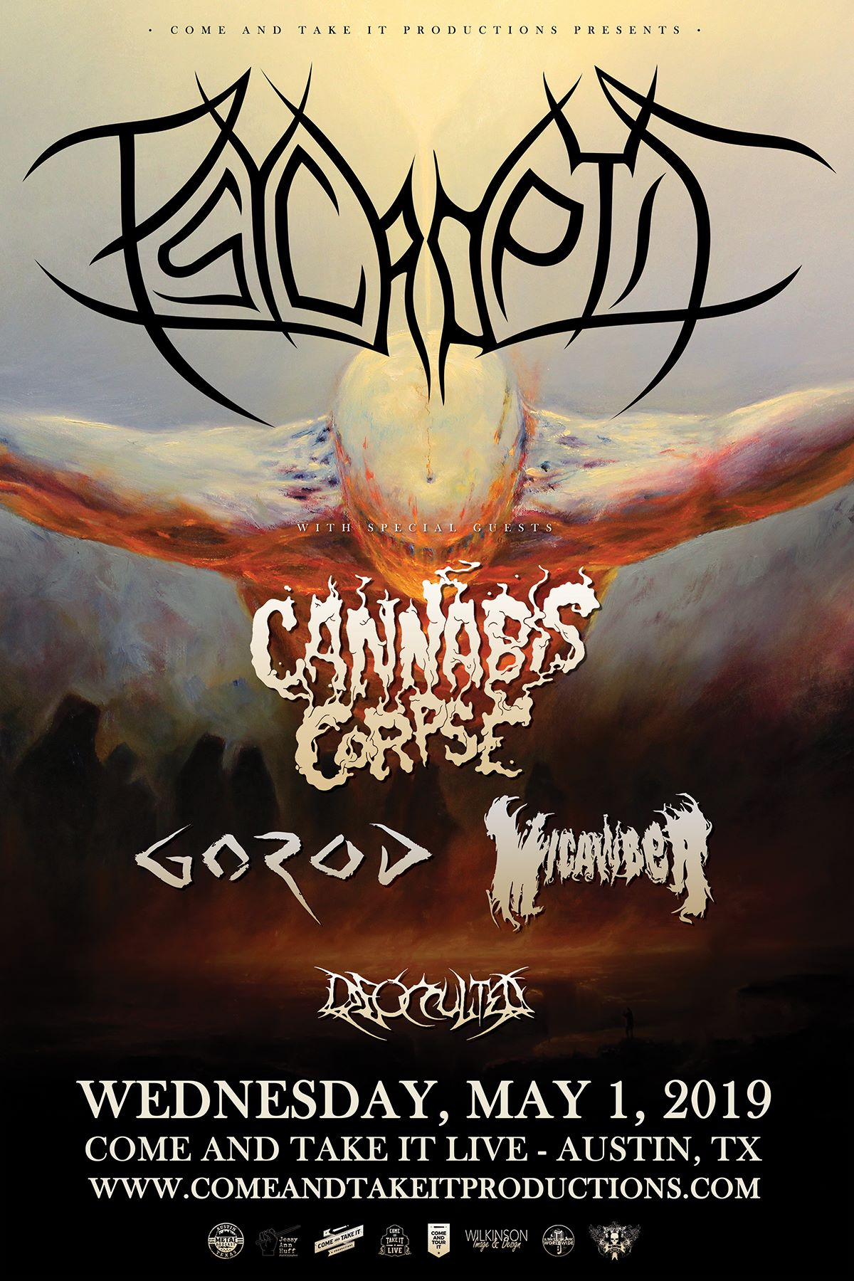 Psycroptic, Cannabis Corpse, Gorod and Micawber