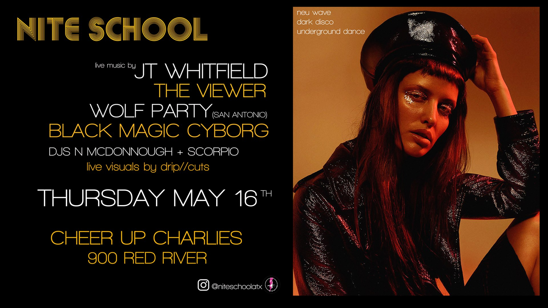 NITE SCHOOL w/ The Viewer/JT Whitfield/Wolf Party/+ more