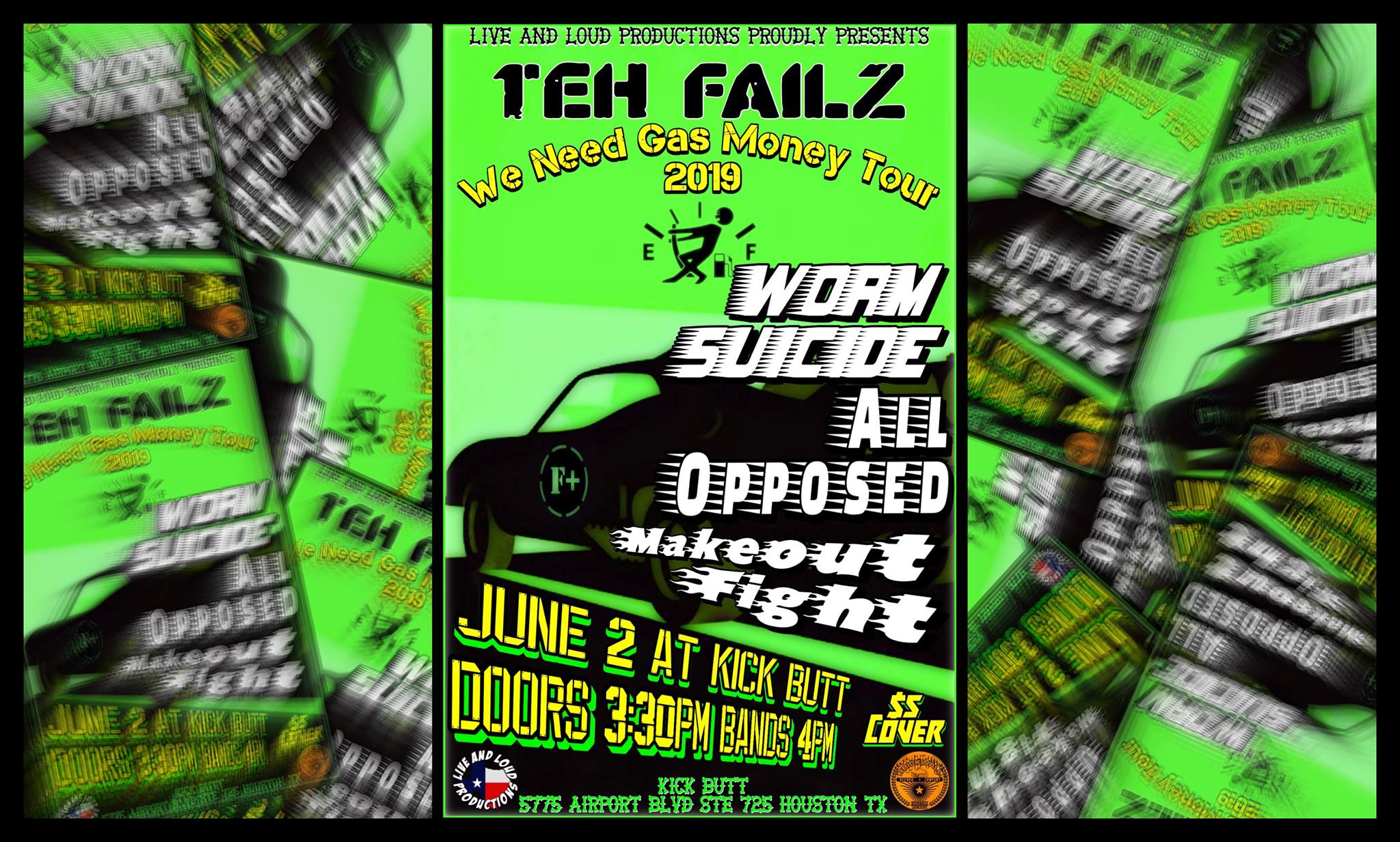 Teh Failz, Worm Suicide, All Opposed, Makeout Fight