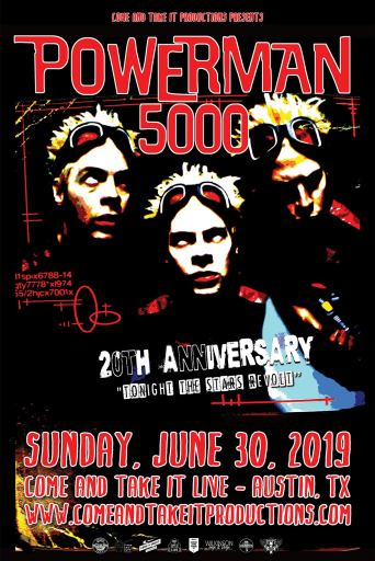 Powerman 5000: 'Tonight the Stars Revolt' 20th Anniversary