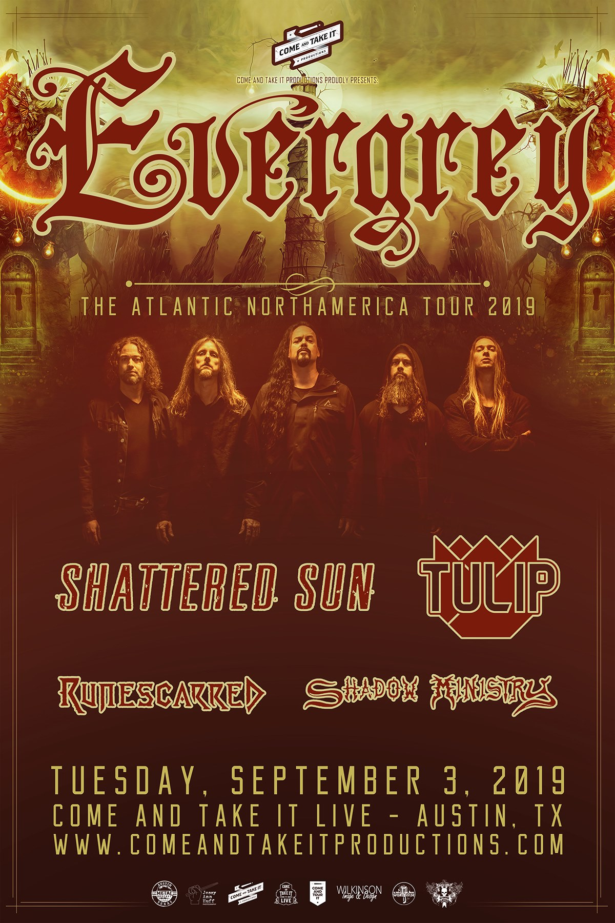 Evergrey, Shattered Sun, Tulip, Runescarred and more