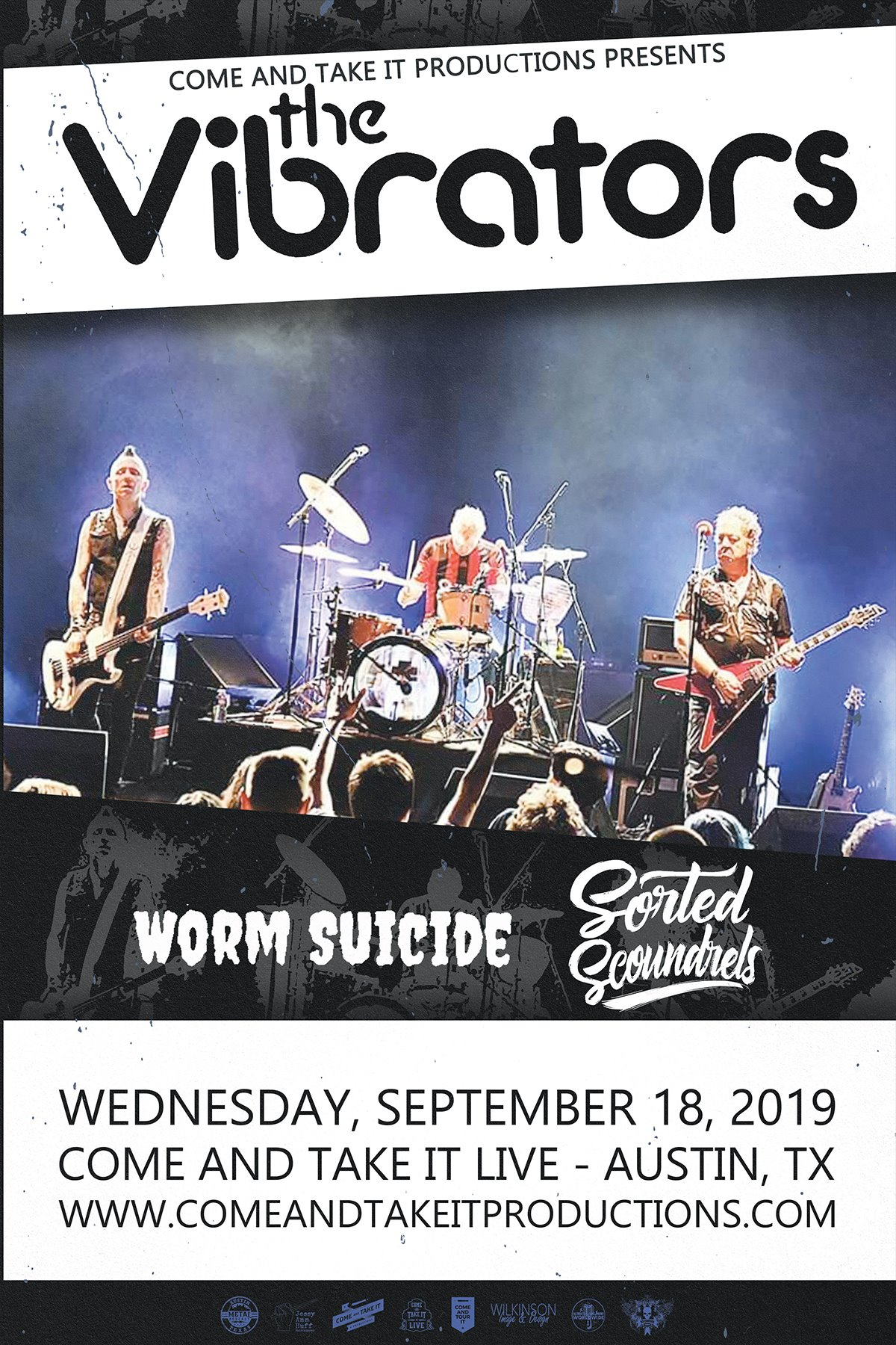 The Vibrators, Worm Suicide and more