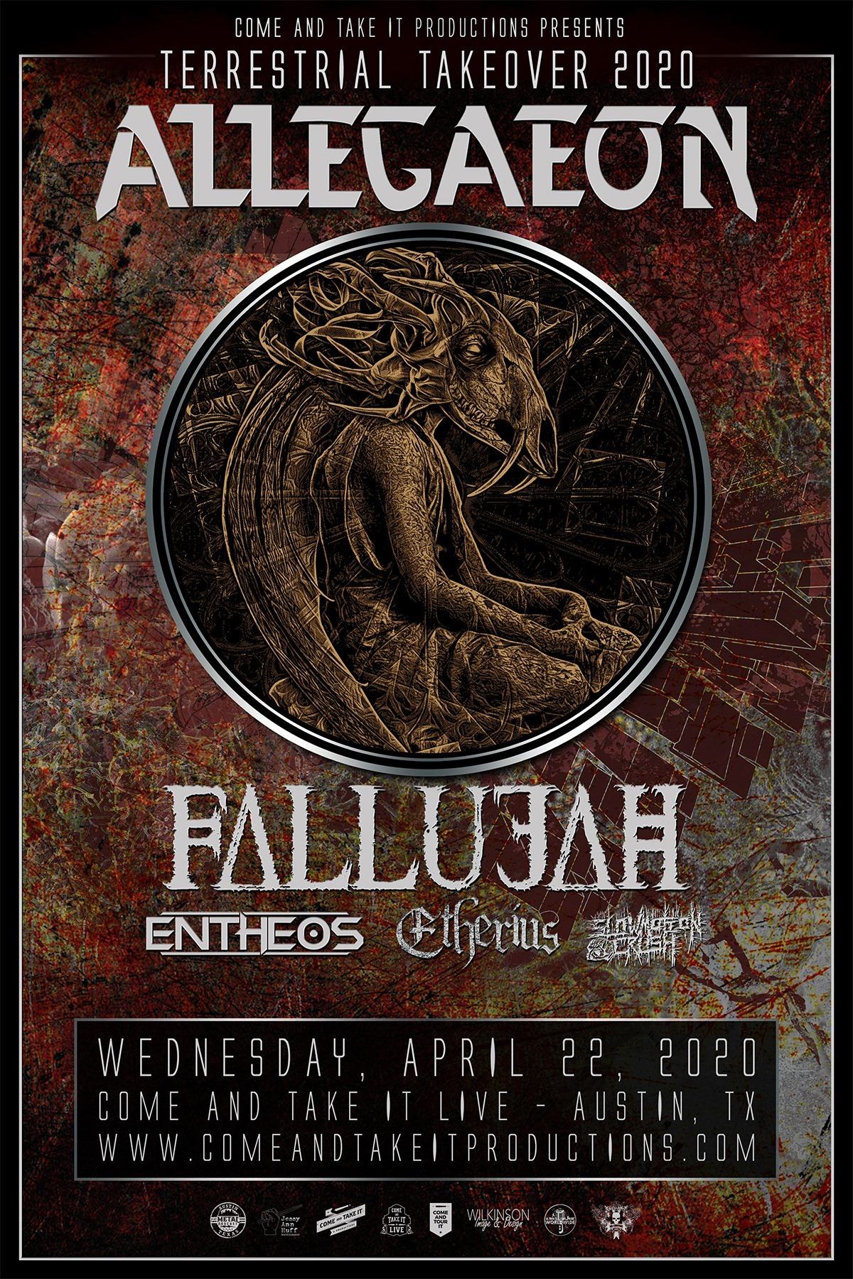 Allegaeon, Fallujah, Entheos, Etherius and more