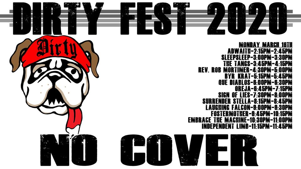 Dirty Fest 2020 - Monday