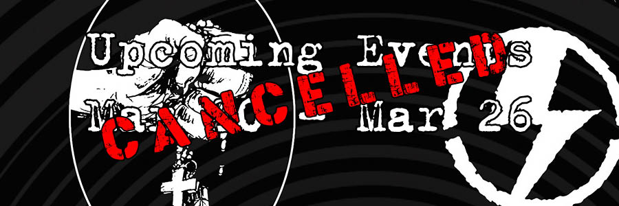 Upcoming Events Mar 20 - Mar 26