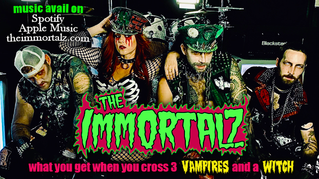 Advertisement image for the Immortalz