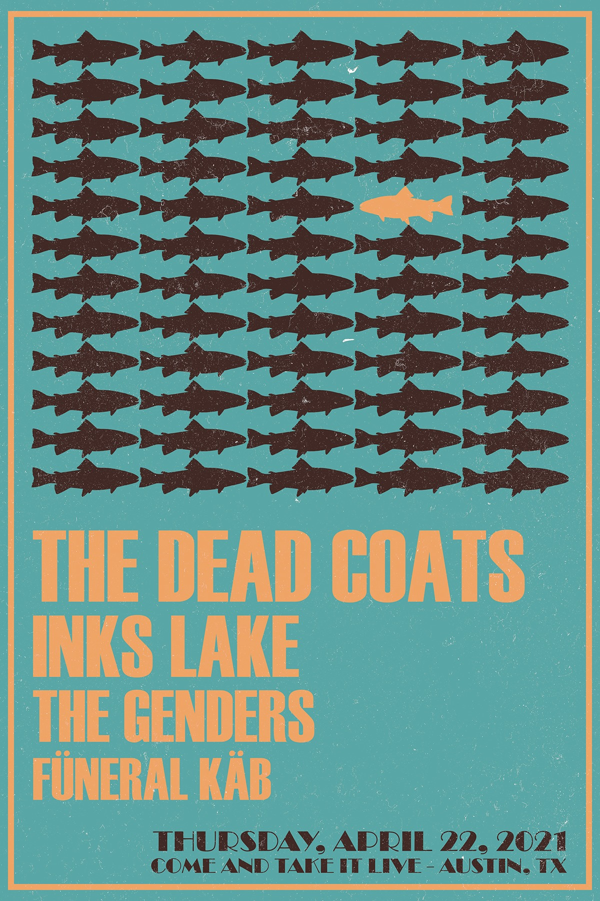The Dead Coats, Inks Lake, The Genders and Füneral Käb