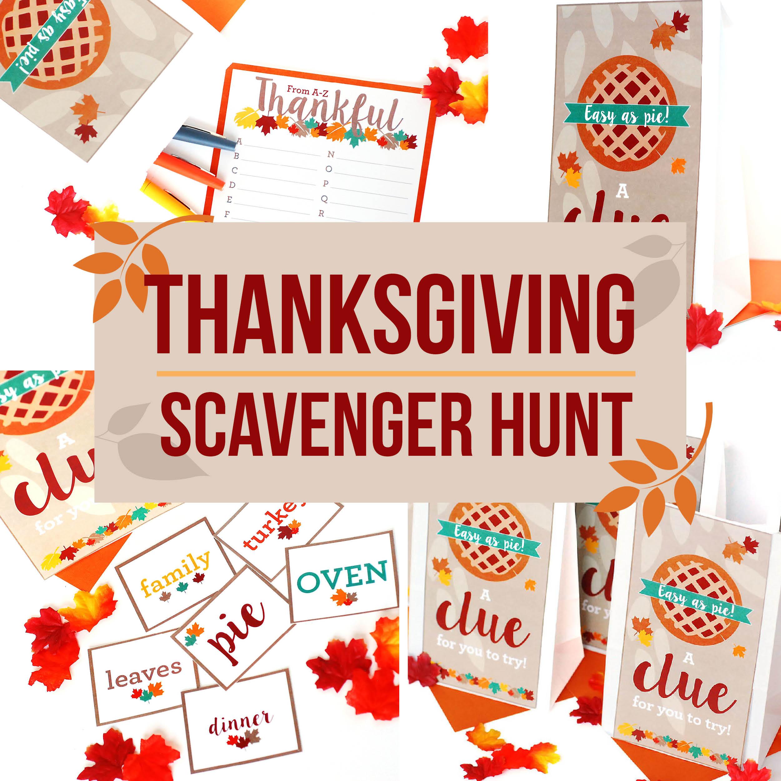 Scavenger Hunt Ideas For Thanksgiving