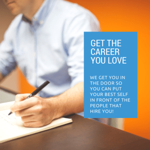 Get the career that you love