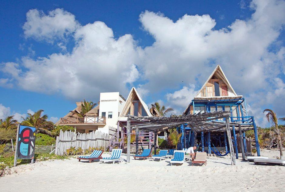 Hotel Posada Lamar à Tulum au Mexique, Péninsule du Yucatan