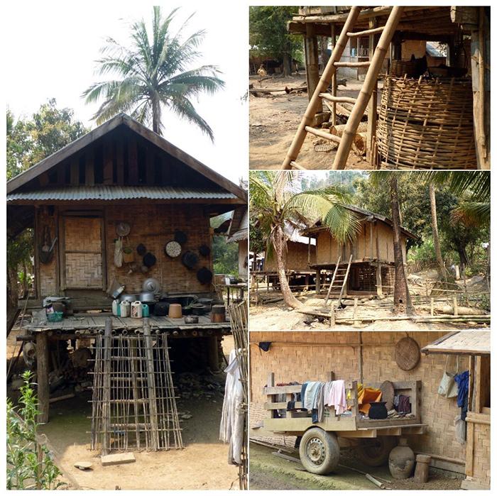 Maisons traditionnels Laos