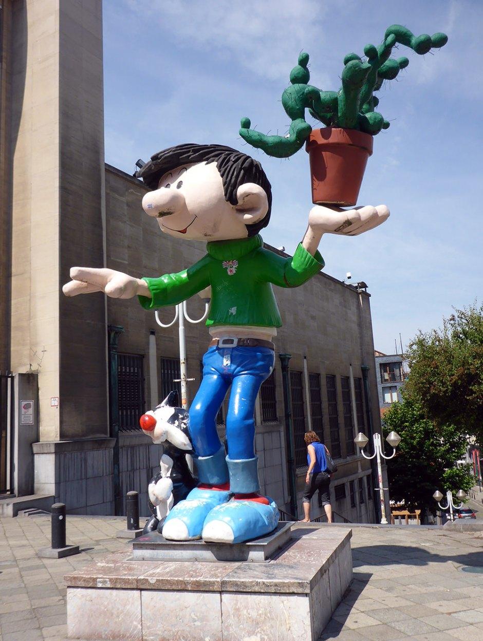 BD et Street Art à Bruxelles : Gaston Lagaffe