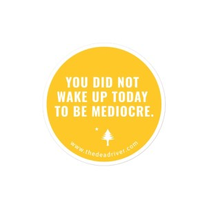 You Did Not Wake Up Today To Be Mediocre - Stickers