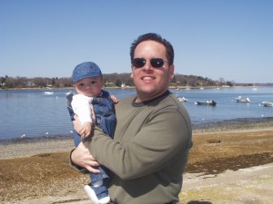This is one of my all-time favorite pics of my hubby (with my tiny son who's going to be 7 soon!)