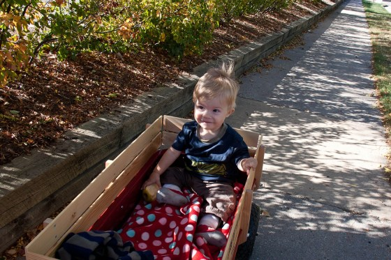 Kid in Wagon