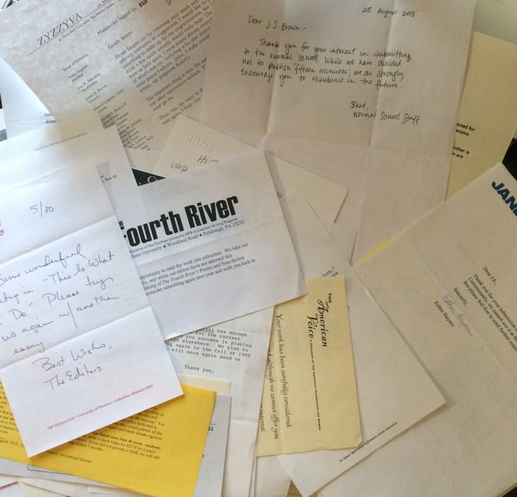 A pile of rejection slips
