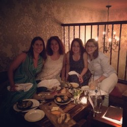 Drinks with former Deb Karma Brown, me, and writers Pam Jenoff and Lynda Cohen Loigman