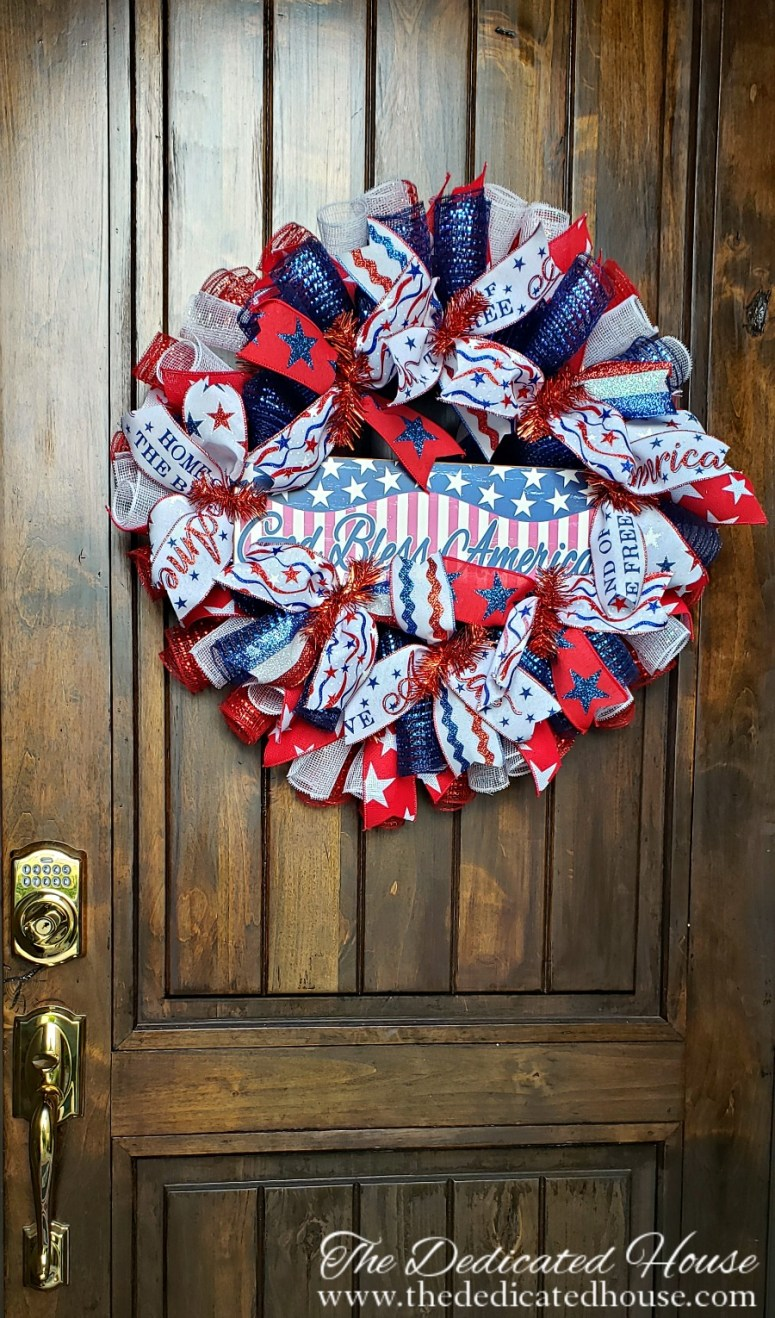 Patriotic Porch Decor - Small Porch