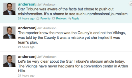 Jeff Anderson Attacking Rochelle Olson on Twitter