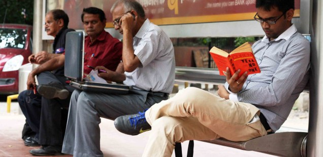 Photo Essay – Reading in Public, Around Town