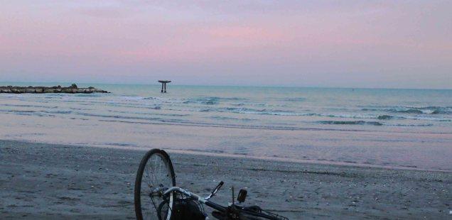 City Moment - A Fallen Bicycle on Thomas Mann's Beach, Venice