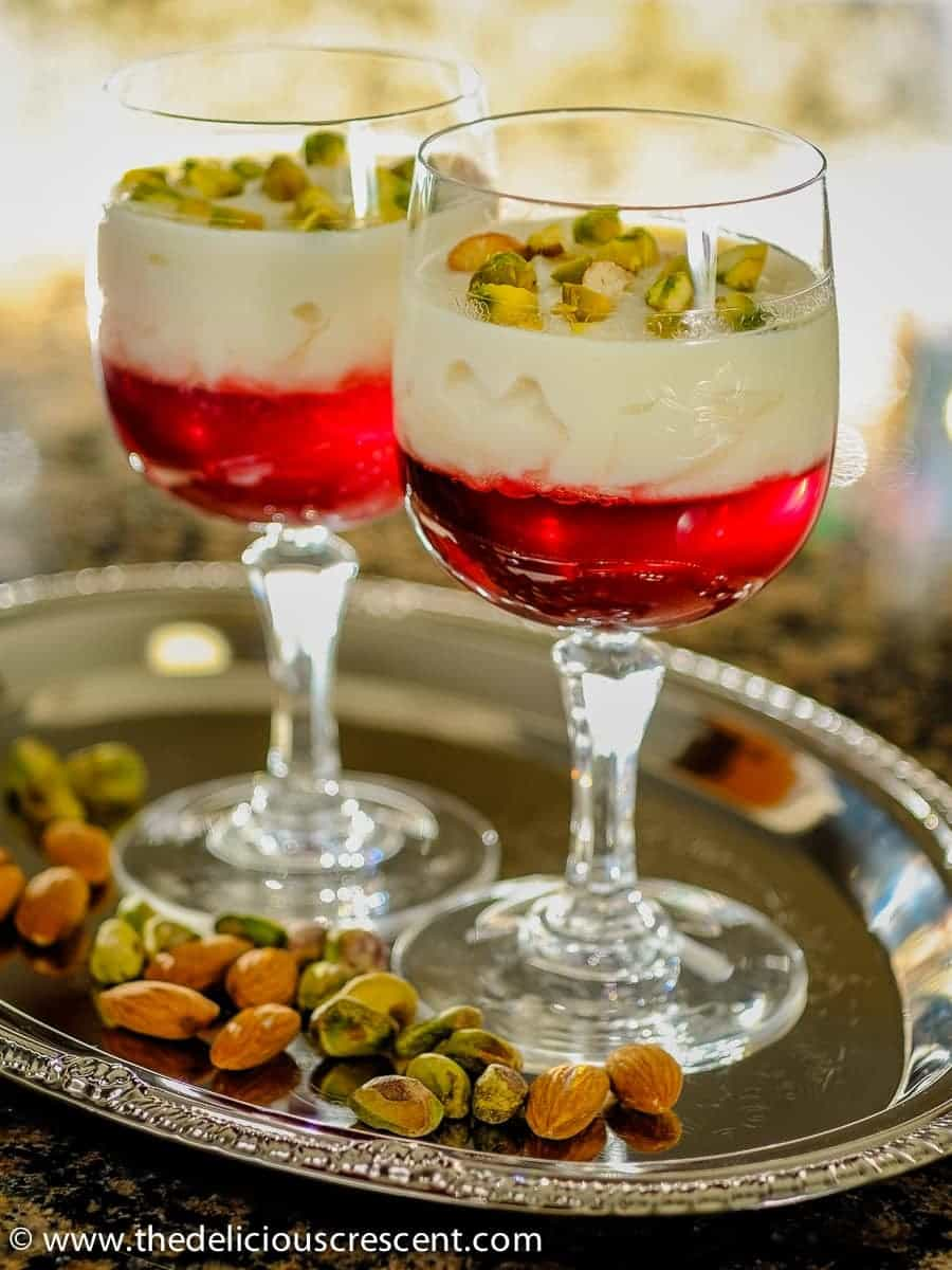 Rose-Rice-Custard-with-Pomegranate-Jelly