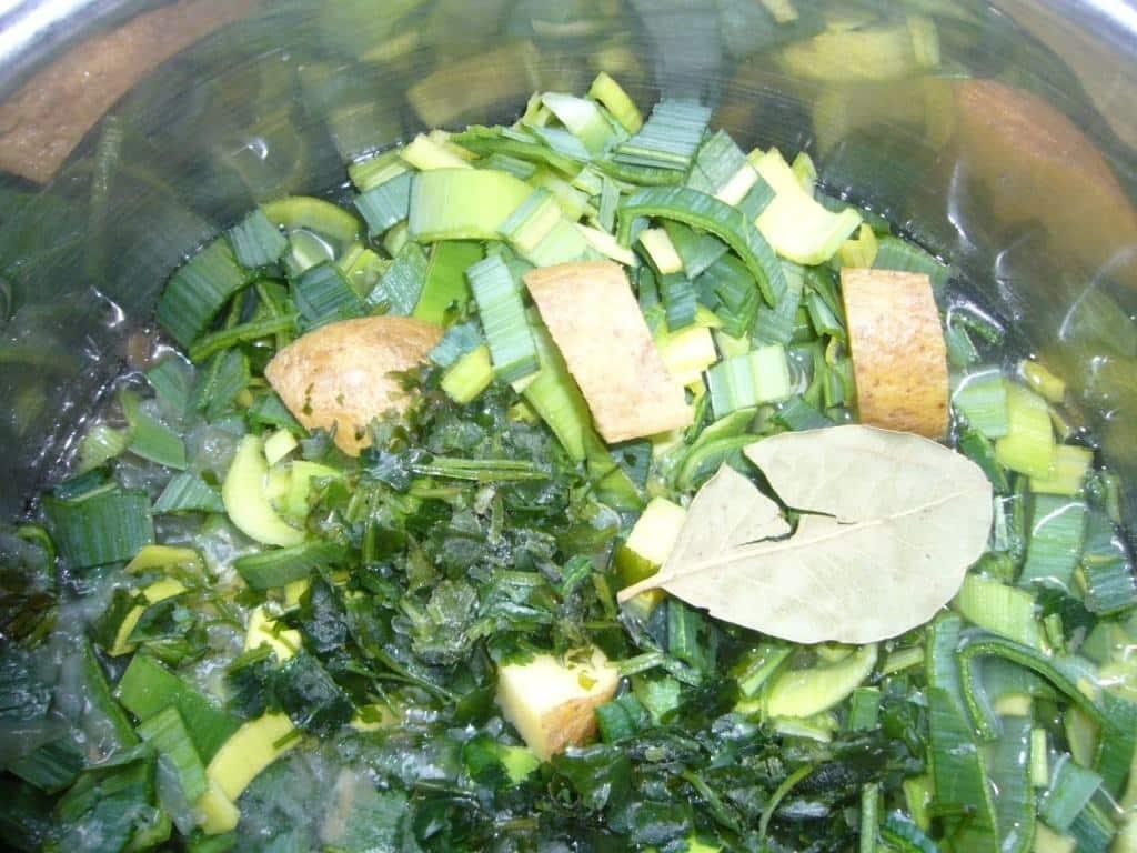 Creamy Leek Avocado Cilantro Soup Prep