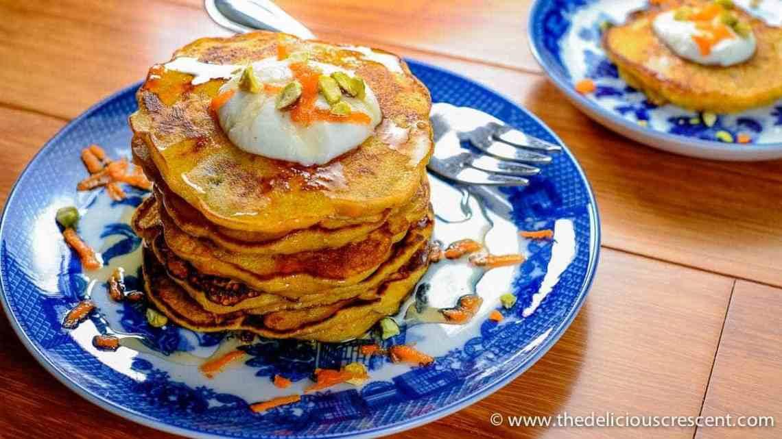 Carrot Halwa Pancakes