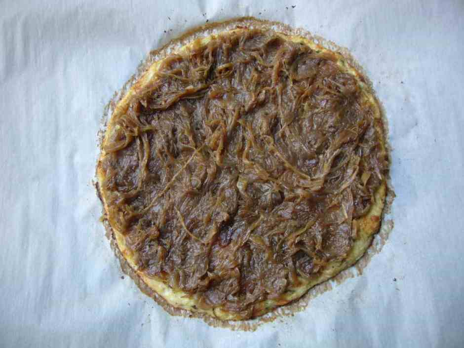 Low Carb French Onion Pizza Prep